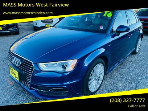 2016 Audi A3 Sportback e-tron for sale at MASS Motors West Fairview in Boise ID