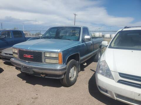 1990 GMC Sierra 2500 for sale at PYRAMID MOTORS - Fountain Lot in Fountain CO