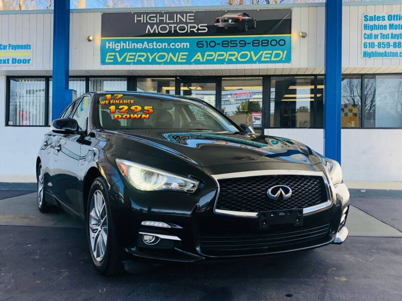 2017 Infiniti Q50 for sale at Highline Motors in Aston PA