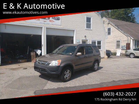 2004 Honda CR-V for sale at E & K Automotive in Derry NH