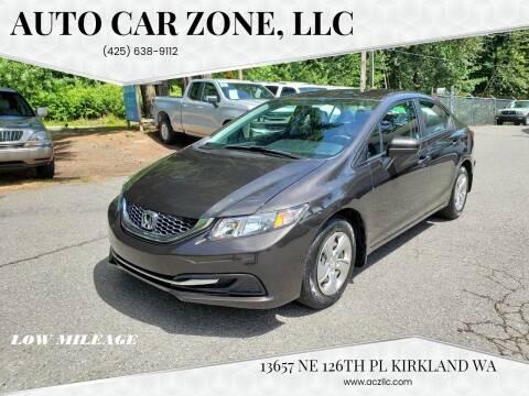 2014 Honda Civic for sale at Auto Car Zone, LLC in Kirkland WA