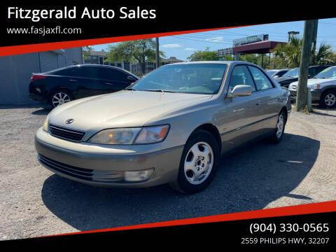 1999 Lexus ES 300 for sale at Fitzgerald Auto Sales in Jacksonville FL