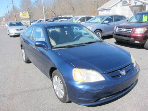 2002 Honda Civic for sale at K & R Auto Sales,Inc in Quakertown PA