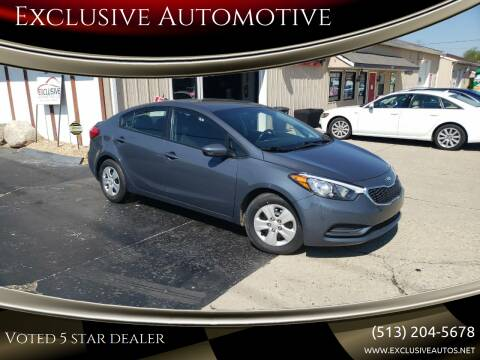 2016 Kia Forte for sale at Exclusive Automotive in West Chester OH