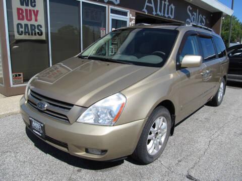 2006 Kia Sedona for sale at Arko Auto Sales in Eastlake OH