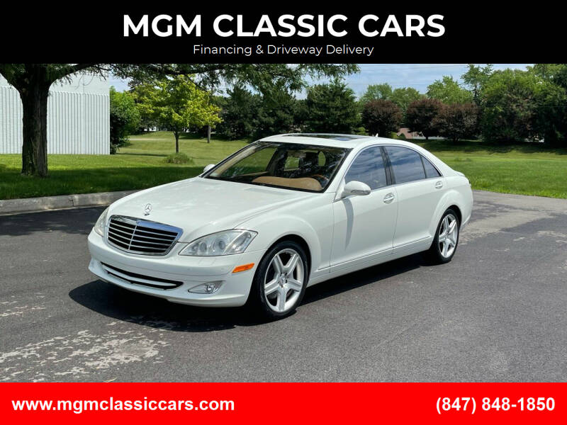 2008 Mercedes-Benz S-Class for sale at MGM CLASSIC CARS-New Arrivals in Addison IL