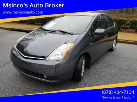 2008 Toyota Prius for sale at Msinco's Auto Broker in Snellville GA