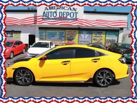 2019 Honda Civic for sale at American Auto Depot in Modesto CA