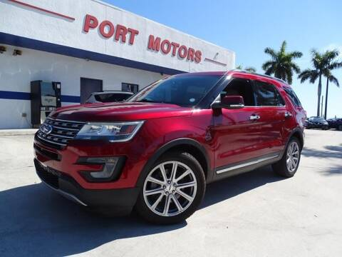 2017 Ford Explorer for sale at Port Motors in West Palm Beach FL