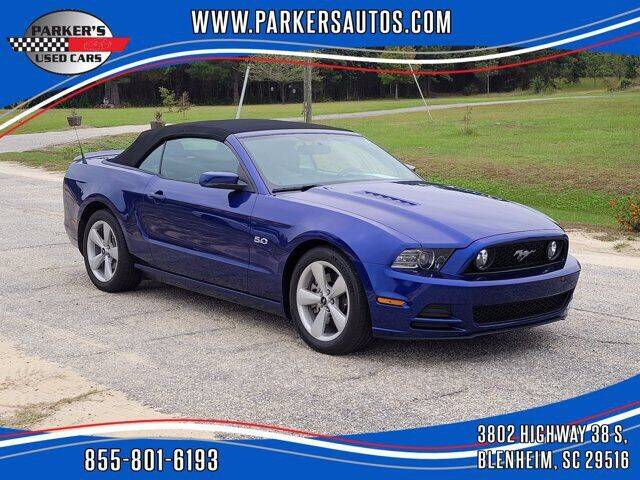 2013 Ford Mustang for sale at Parker's Used Cars in Blenheim SC