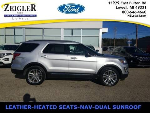2016 Ford Explorer for sale at Zeigler Ford of Plainwell- Jeff Bishop in Plainwell MI