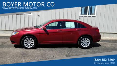 2013 Chrysler 200 for sale at BOYER MOTOR CO in Sauk Centre MN