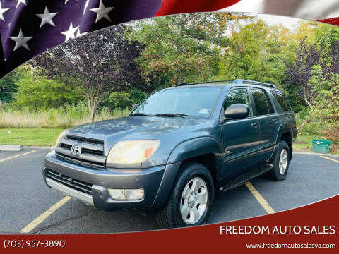 2004 Toyota 4Runner for sale at Freedom Auto Sales in Chantilly VA