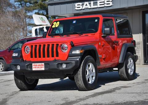 2020 Jeep Wrangler for sale at Will's Fair Haven Motors in Fair Haven VT