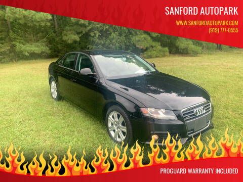 2009 Audi A4 for sale at Sanford Autopark in Sanford NC