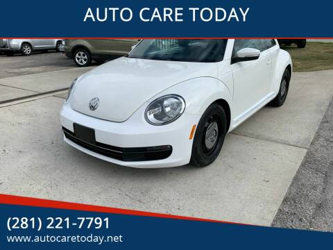 2013 Volkswagen Beetle for sale at AUTO CARE TODAY in Spring TX
