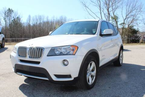 2012 BMW X3 for sale at UpCountry Motors in Taylors SC