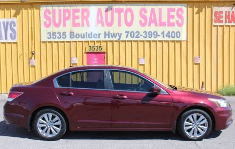 2012 Honda Accord for sale at Super Auto Sales in Las Vegas NV