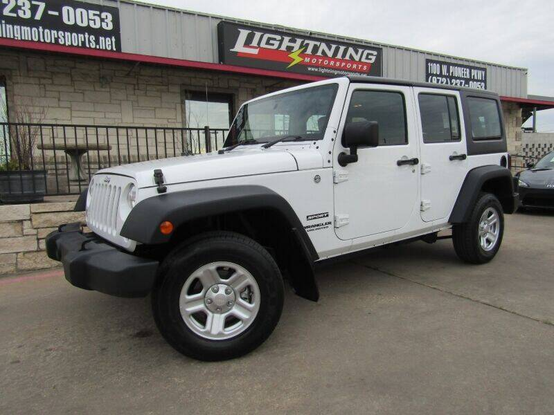 2015 Jeep Wrangler Unlimited for sale at Lightning Motorsports in Grand Prairie TX