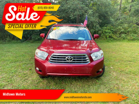 2009 Toyota Highlander for sale at Midtown Motors in Greenbrier TN