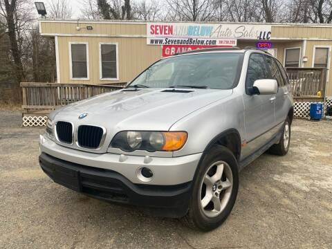 2002 BMW X5 for sale at Seven and Below Auto Sales, LLC in Rockville MD