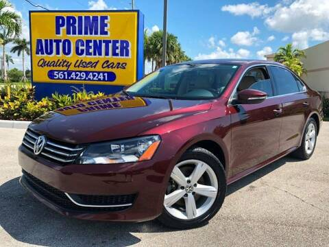 2012 Volkswagen Passat for sale at PRIME AUTO CENTER in Palm Springs FL