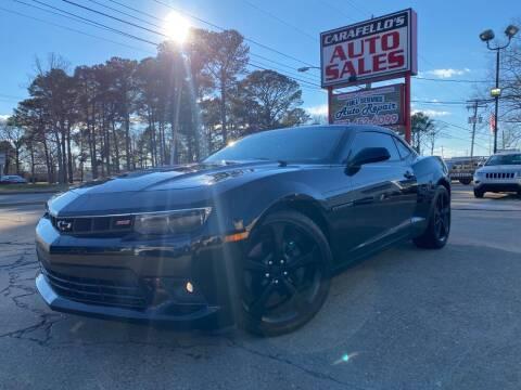 2014 Chevrolet Camaro for sale at Carafello's Auto Sales in Norfolk VA