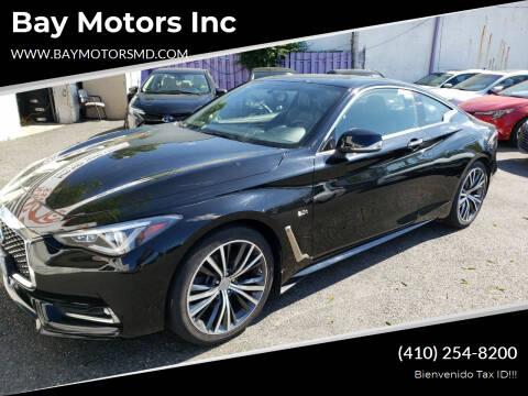2017 Infiniti Q60 for sale at Bay Motors Inc in Baltimore MD