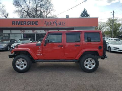 2011 Jeep Wrangler Unlimited for sale at RIVERSIDE AUTO SALES in Sioux City IA