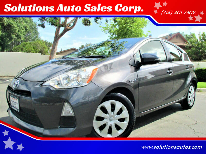 2012 Toyota Prius c for sale at Solutions Auto Sales Corp. in Orange CA