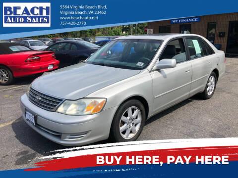 2003 Toyota Avalon for sale at Beach Auto Sales in Virginia Beach VA
