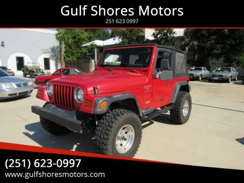1997 Jeep Wrangler for sale at Gulf Shores Motors in Gulf Shores AL