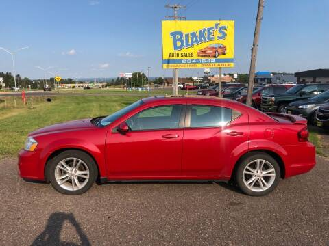 2012 Dodge Avenger for sale at Blake's Auto Sales in Rice Lake WI