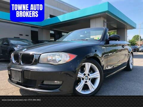 2008 BMW 1 Series for sale at TOWNE AUTO BROKERS in Virginia Beach VA