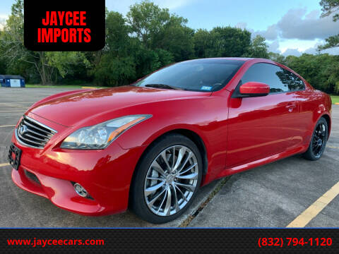 2013 Infiniti G37 Coupe for sale at JAYCEE IMPORTS in Houston TX