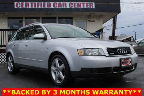 2003 Audi A4 for sale at CERTIFIED CAR CENTER in Fairfax VA