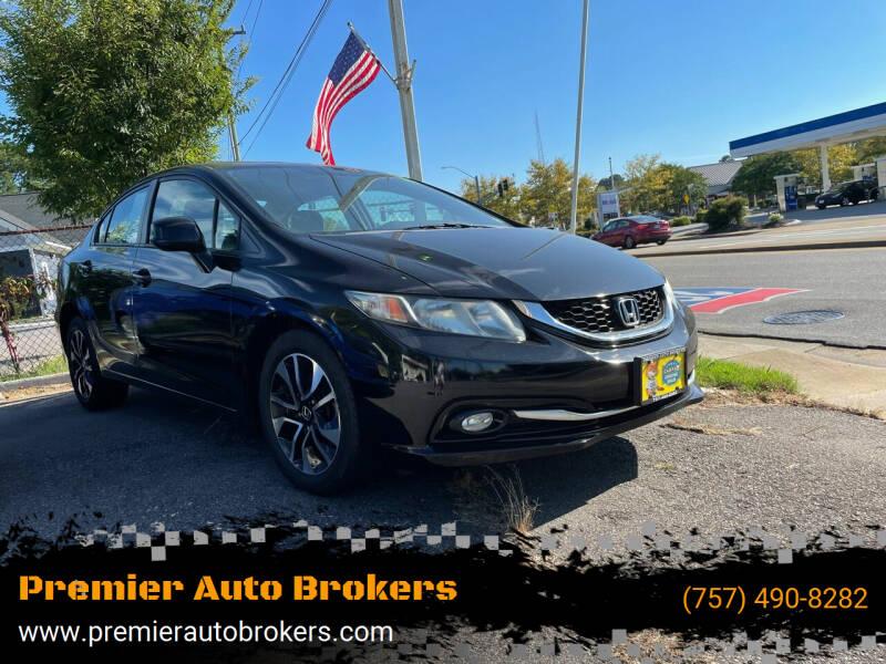 2013 Honda Civic for sale at Premier Auto Brokers in Virginia Beach VA