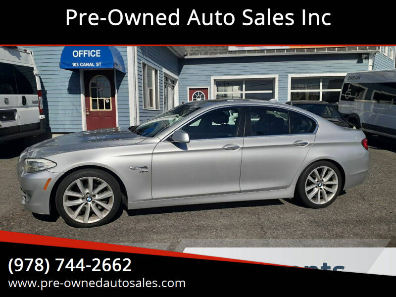 2012 BMW 5 Series for sale at Pre-Owned Auto Sales Inc in Salem MA
