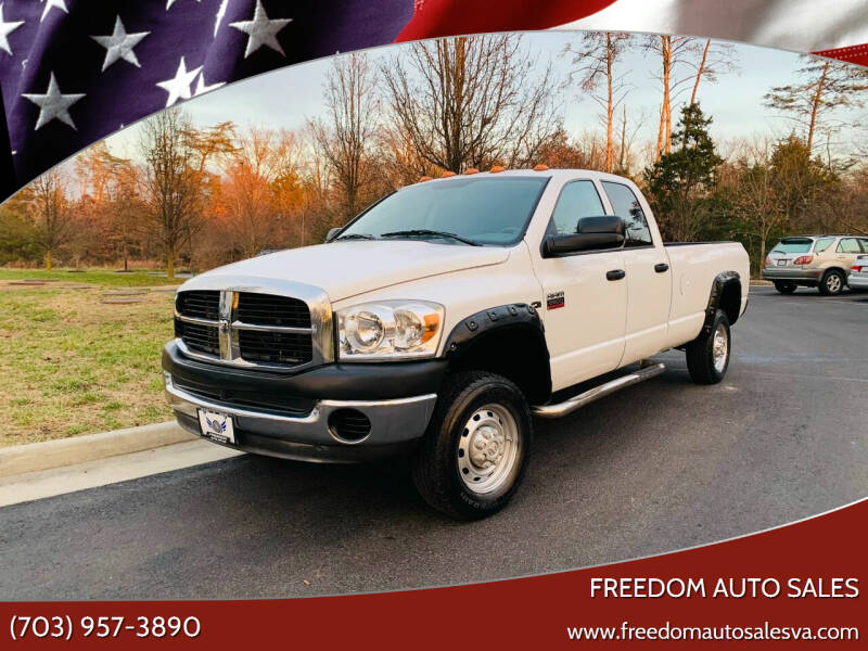 2007 Dodge Ram Pickup 2500 for sale at Freedom Auto Sales in Chantilly VA