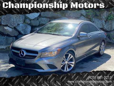 2016 Mercedes-Benz CLA for sale at Championship Motors in Redmond WA