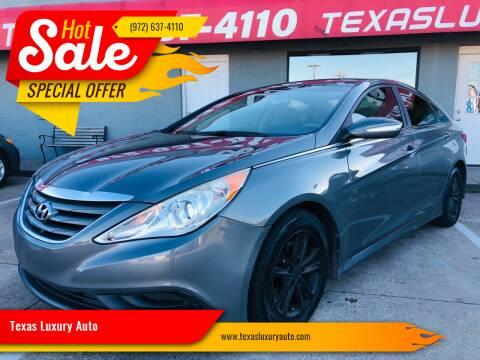 2014 Hyundai Sonata for sale at Texas Luxury Auto in Cedar Hill TX