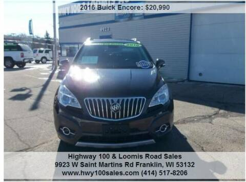 2016 Buick Encore for sale at Highway 100 & Loomis Road Sales in Franklin WI