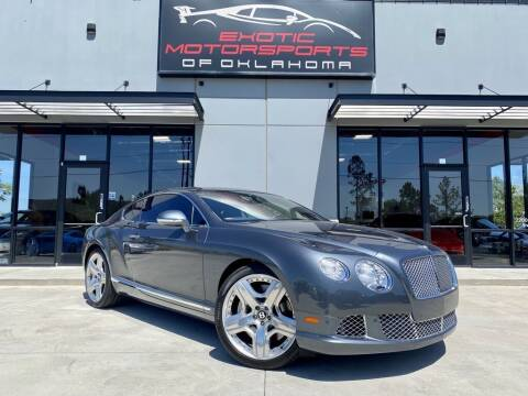 2012 Bentley Continental for sale at Exotic Motorsports of Oklahoma in Edmond OK