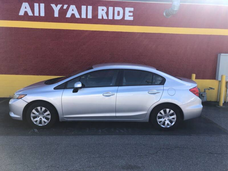 2012 Honda Civic for sale at Big Daddy's Auto in Winston-Salem NC