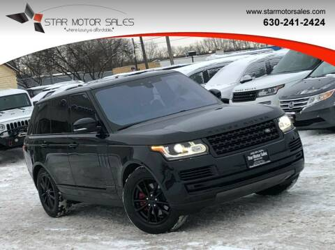 2017 Land Rover Range Rover for sale at Star Motor Sales in Downers Grove IL