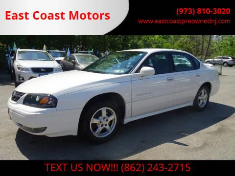 2004 Chevrolet Impala for sale at East Coast Motors in Lake Hopatcong NJ