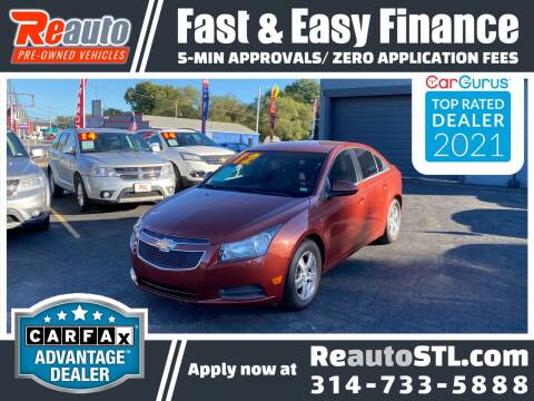 2012 Chevrolet Cruze for sale at Reauto in Saint Louis MO