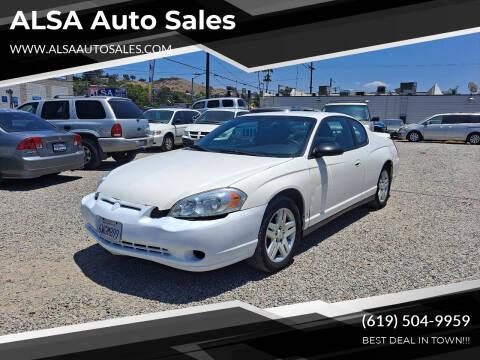 2006 Chevrolet Monte Carlo for sale at ALSA Auto Sales in El Cajon CA