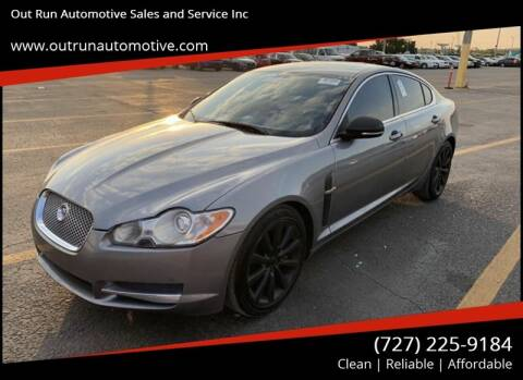 2010 Jaguar XF for sale at Out Run Automotive Sales and Service Inc in Tampa FL