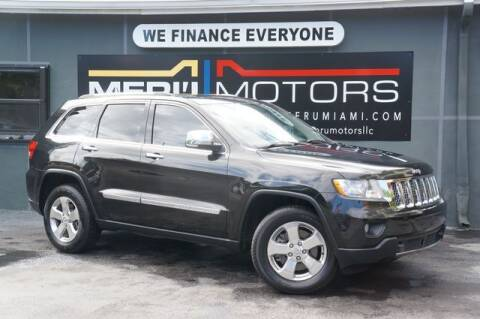 2012 Jeep Grand Cherokee for sale at Meru Motors in Hollywood FL